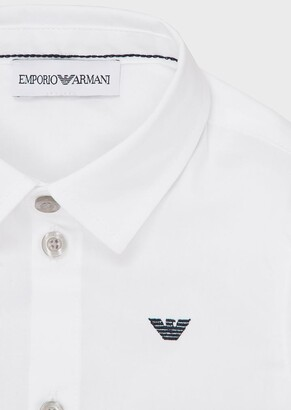 Emporio Armani Stretch Shirt With Topstitched Collar