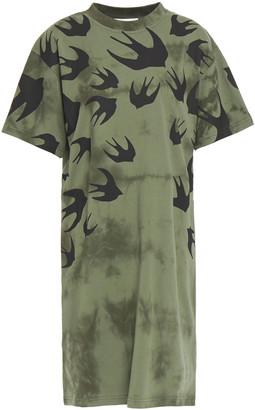 McQ Printed Tie-dyed Cotton-jersey Mini Dress