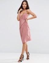 Asos Double Strap Wrap Midi Dress