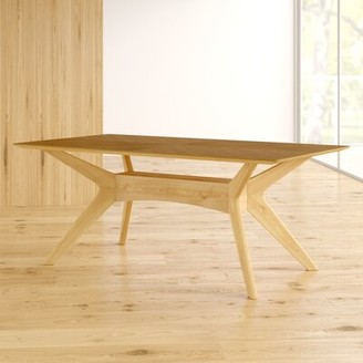 Langley StreetTM Selena Dining Table Langley Street Color: Walnut