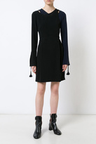 Derek Lam 10 Crosby Asymmetrical Bell-Sleeve Dress
