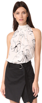 Diane von Furstenberg Sleeveless High Neck Blouse