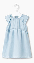 Esprit Embroidered cotton chambray dress