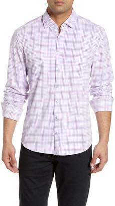 Stone Rose Plaid Long Sleeve Shirt
