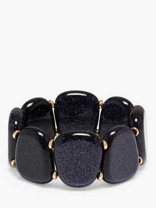 Lola Rose Jensen Wide Bead Stretch Bracelet, Blue Sandstone