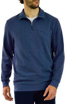 Haggar Quarter-Zip Flat Knit Sweater