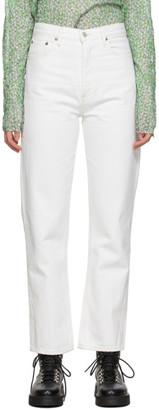 AGOLDE White 90s Pinch Waist High Rise Jeans