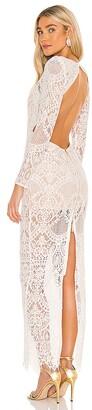 Bronx and Banco Allegra Blanc Maxi Dress