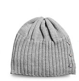 Michael Kors Button-Up Knitted Hat