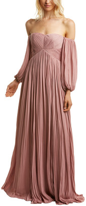Halston Pleated Gown