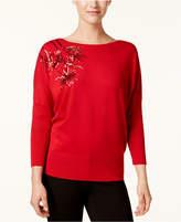 Alfani Sequined Dolman-Sleeve Sweater, Created for Macy's