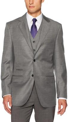 Steve Harvey Men's Plaid Fit Suit Separate Jacket