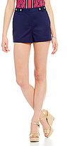 MICHAEL Michael Kors Stretch Cotton Snap-Tab Waistband Shorts