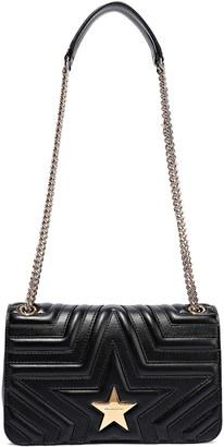 Stella McCartney Embellished Quilted Faux Leather Shoulder Bag