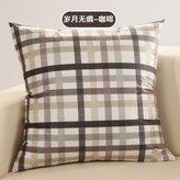 BNHYJ Striped Pillow Cshion/Sper soft velvet pillow cover wear/Office pillow