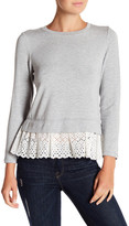 Rebecca Taylor Long Sleeve Terry Embroidery Top