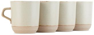 KINTO Beige Large Ceramic Lab CLK-151 Mug Set, 14 oz