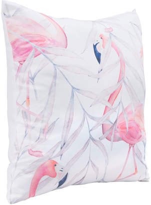"ZUO Modern Mr. Flamingo Satin Pillow, 17.7""Sq."