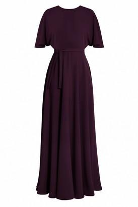 Undress Soula Purple Maxi Butterfly Sleeve Dress