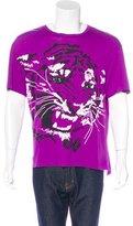 Lanvin Embellished Tiger Print T-Shirt