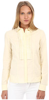 Just Cavalli Long Sleeve Lace Button Front w/ Ruffle