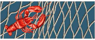 "Liora Manné Illusions Lobster Net Indoor/Outdoor Mat, Navy, 23""x59"""