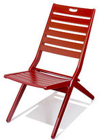 Red Tribeca Deck Chair