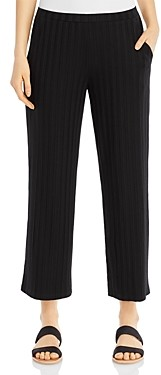 Eileen Fisher Wide-Leg Ribbed Pants
