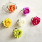 Pier 1 Imports Ranunculus Flower Wine Charm Set of 6