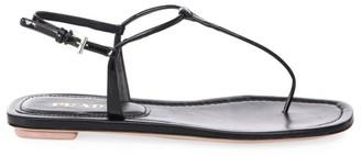 Prada Flat Leather Thong Sandals