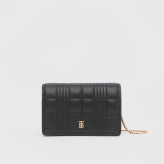 Burberry Quilted Lambskin Card Case with Detachable Strap