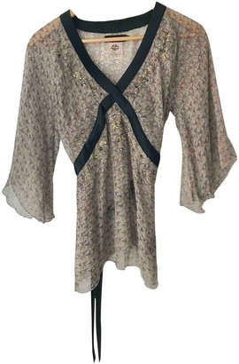 Antik Batik Blue Silk Top for Women
