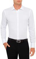 Van Heusen White Dobby Slim Fit Shirt