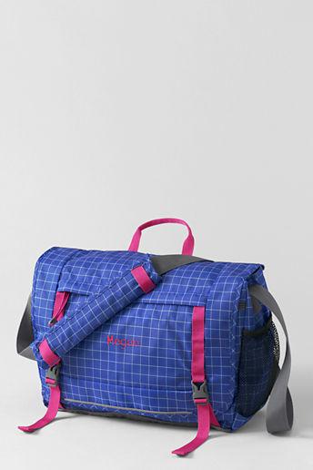 Lands' End School Uniform Kids' Graph Paper FeatherLight Messenger Bag