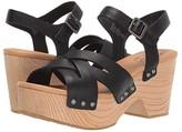 Kork-Ease Ease Wausau (Black Full Grain Leather) Women's Dress Sandals