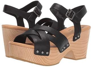 Kork-Ease Wausau (Black Full Grain Leather) Women's Dress Sandals