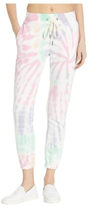 n:philanthropy Night Spiral Tie-Dye French Terry Joggers (Pink Panther Spiral) Women's Casual Pants