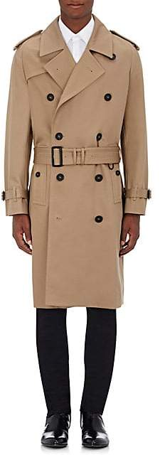 Burberry Men's Cotton Double-Breasted Trench Coat - Tan