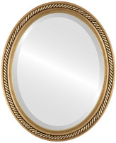 """The Oval And Round Mirror Store Santa Fe Framed Oval Mirror in Gold Leaf, 24""""x30"""""""