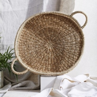 The White Company Seagrass Woven Tray , Natural, One Size