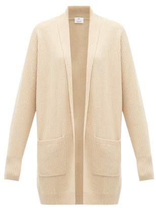 Allude Rib-knitted Cashmere Cardigan - Womens - Beige