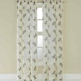 """CHF Waterlilly Scroll Curtain Panel, 84"""", Blue"""