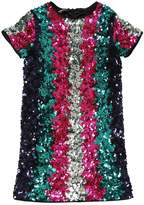 DSQUARED2 Sequined Stripes Party Dress