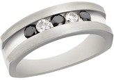 Effy Jewelry Effy Men's Sterling Silver Black and White Diamond Ring, 0.50 TCW
