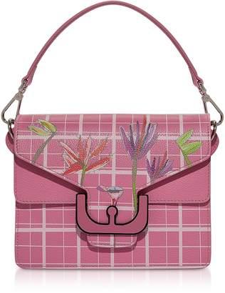 Coccinelle Ambrine Flower Print Leather Shoulder Bag