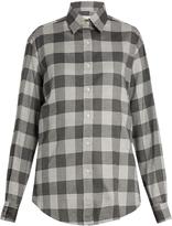 Stella Jean Partire checked cotton-blend shirt