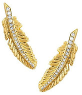 Logan Hollowell - New! Golden Feather Earring Large - Single Or Pair
