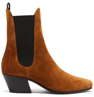 KHAITE Saratoga Suede Chelsea Boots - Tan