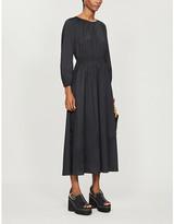 Max Mara S Guelfi elasticated-waist cotton-blend dress