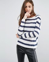 Vero Moda Molly Boatneck Stripe Top